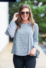 Blatantly Bold Top, Charcoal