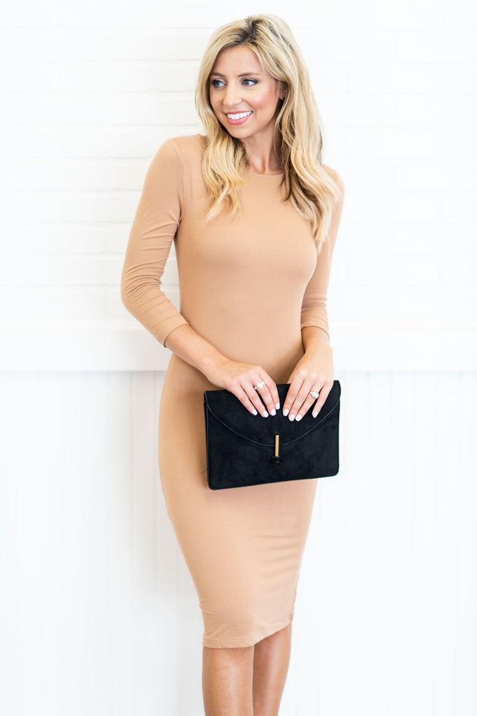 Give You It All Midi Dress, Camel