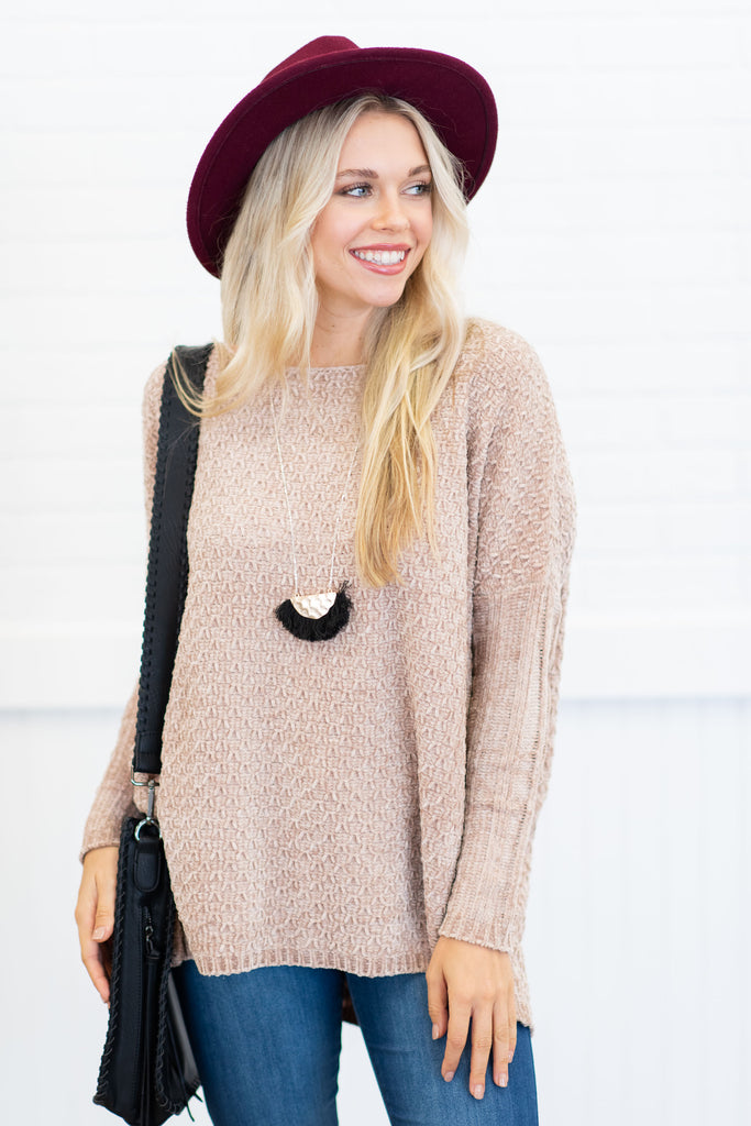 Better Than You Know Sweater, Light Taupe