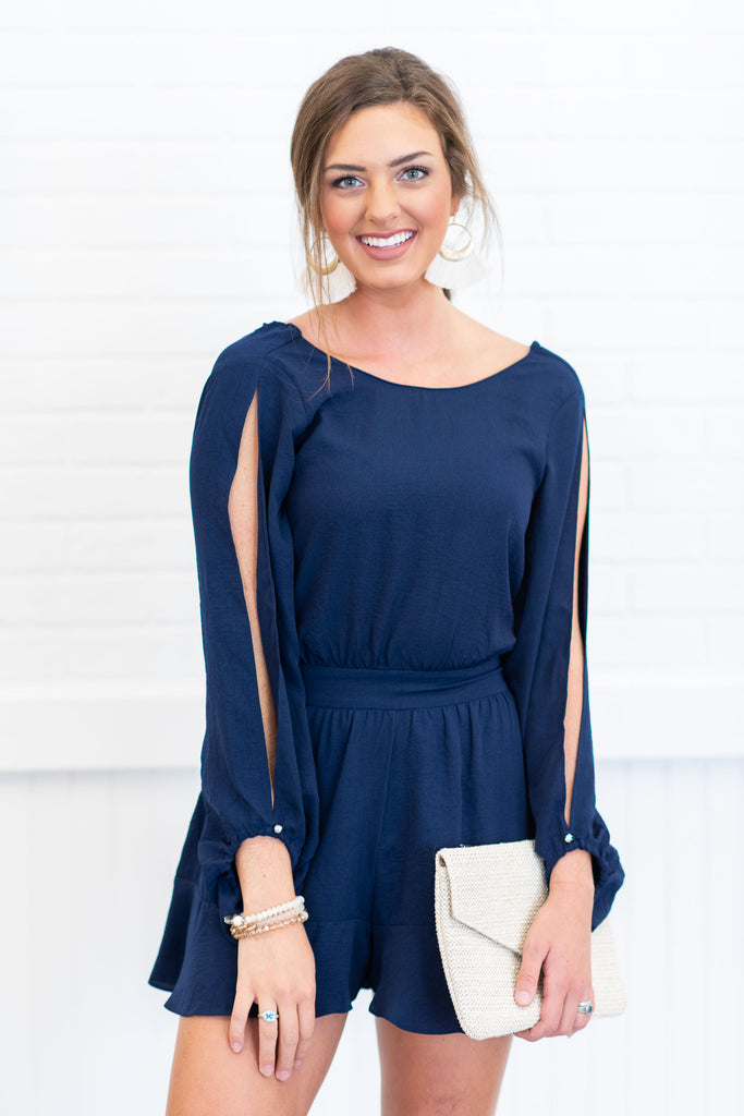 Feeling The Fab Romper, Navy