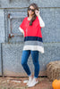 top, hot pink, blue, gray, white, casual, long sleeve, stripes, jersey knit, flowing