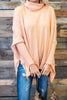 Feeling So Chipper Sherbert Orange Cowl Neck Sweater