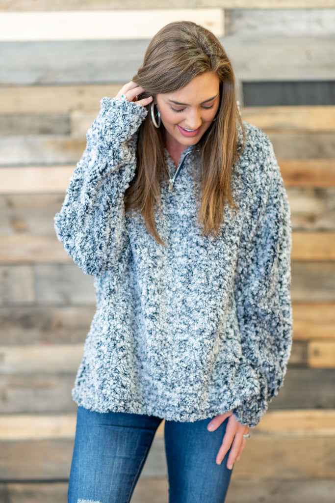 Frosted Fun Pullover, Blue
