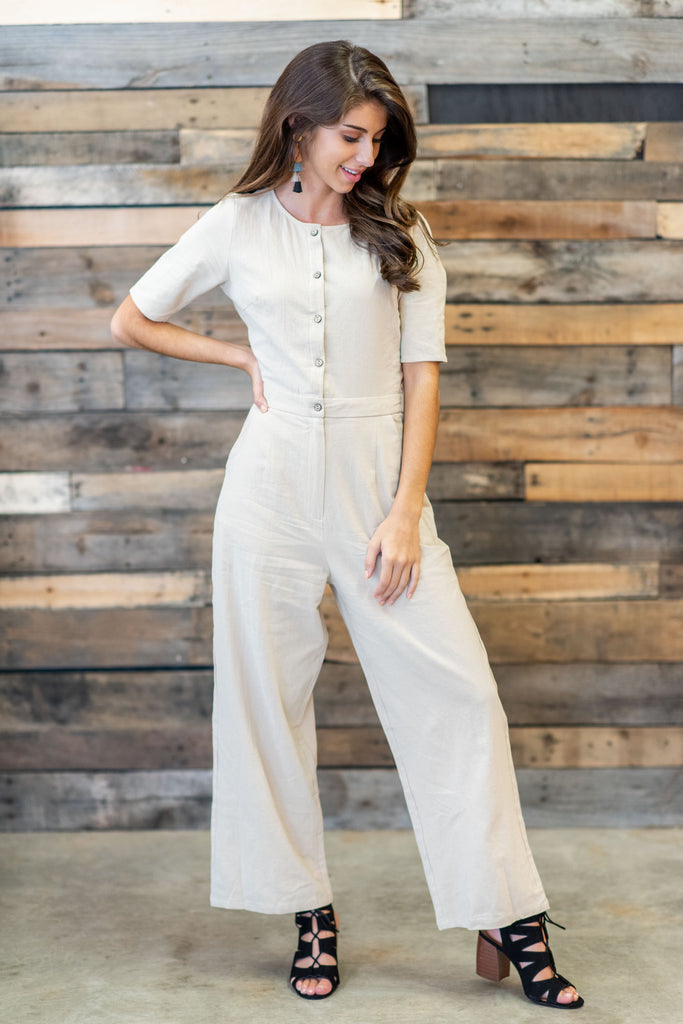 Venture Out Jumpsuit, Taupe