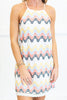 Run With Rainbows Dress, White-Multi