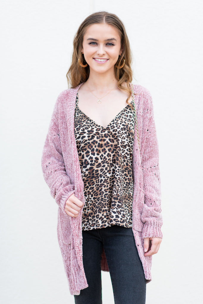 Create Your Own Happy Cardigan, Blush