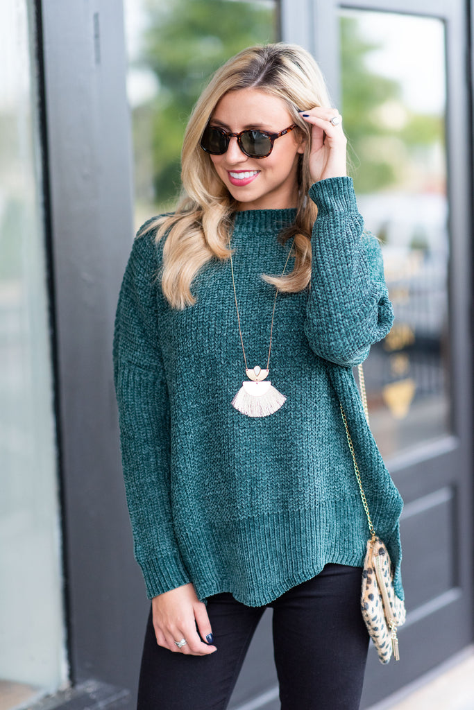 Can't Forget You Sweater, Teal