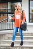 top, casual, fall, winter, long sleeve, tee, flowy, solid, graphic, slouchy, pumpkin, thanksgiving, halloween, holidays, warm, orange, white