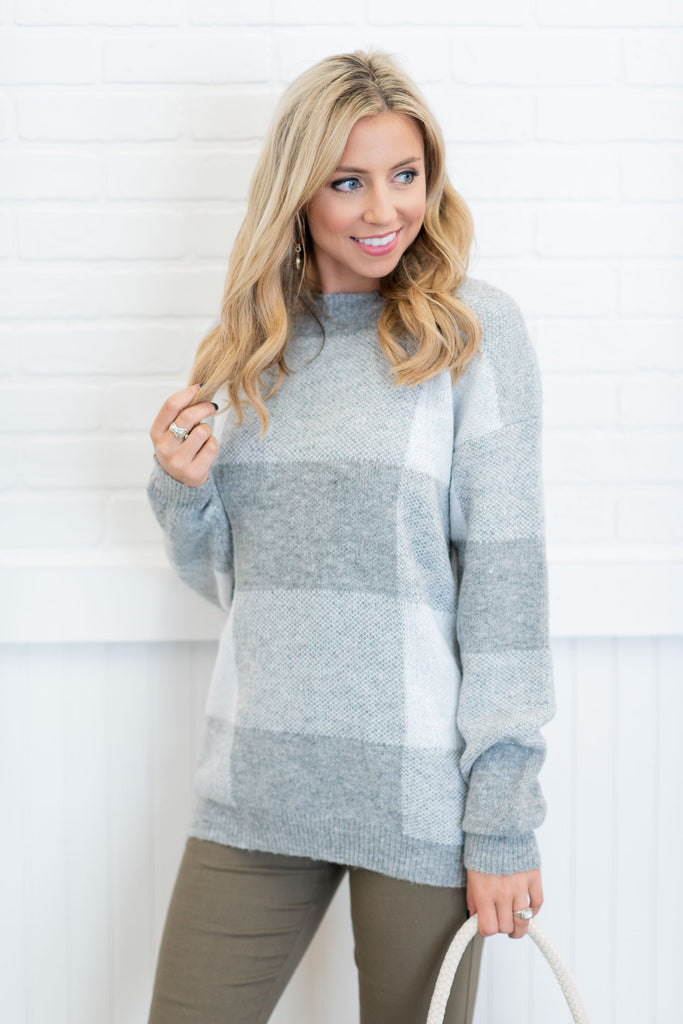 Open To Love Sweater, Heather Gray