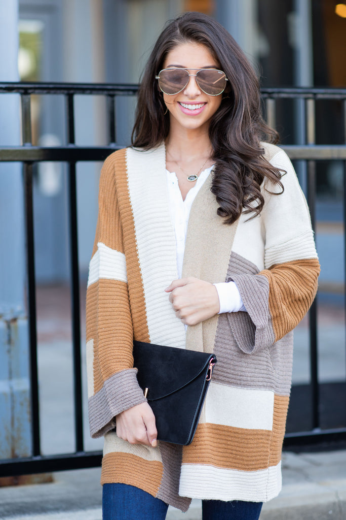 Fall For The Fab Cardigan, Caramel