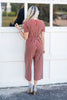 Share The Chic Jumpsuit, Rust