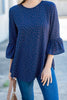 Just Like Love Blouse, Navy