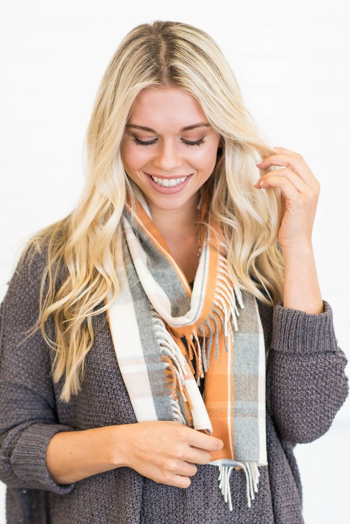 Crisp Fall Air Scarf, Spice
