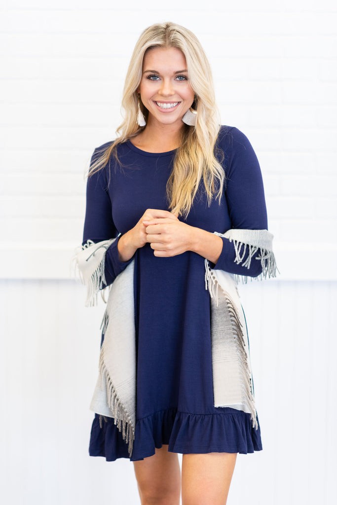 Always Be Adorable Dress, Navy