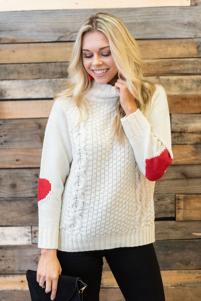 Let Your Love Grow Sweater, Ivory