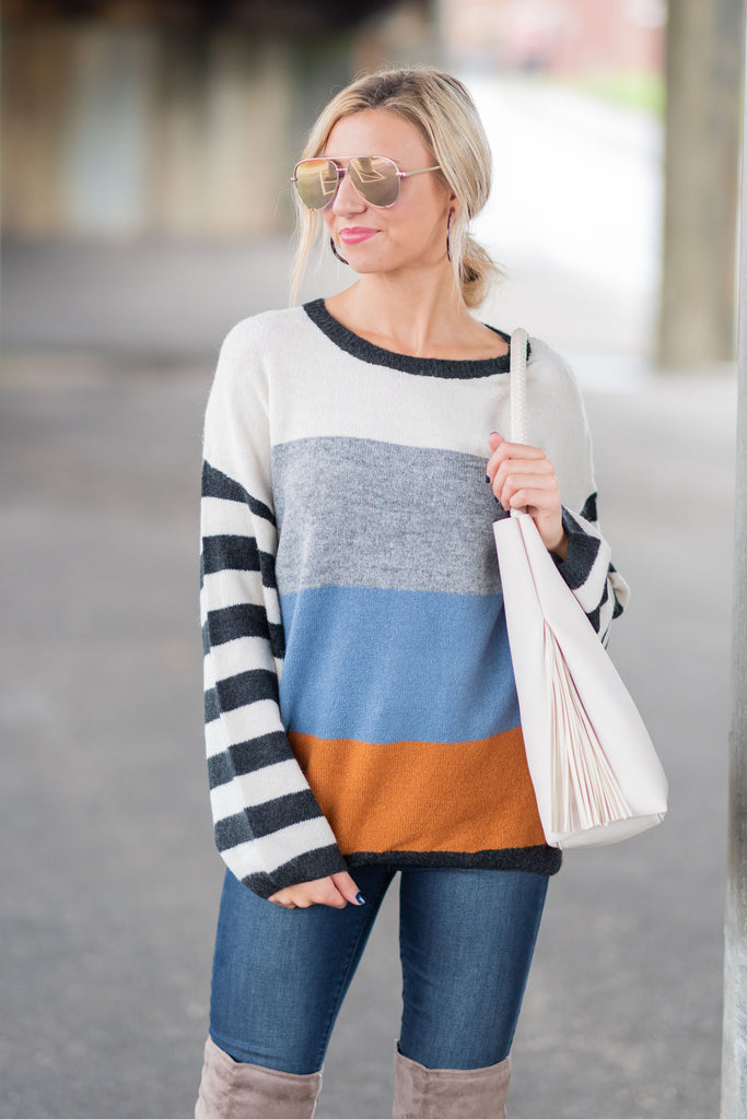 Take You Anywhere Sweater, Ivory-Multi