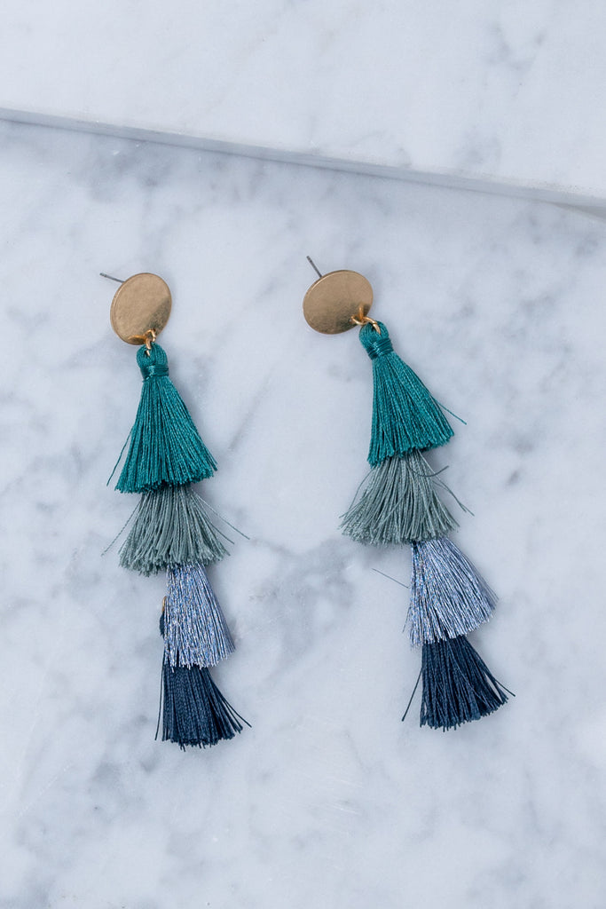 Know Your Worth Earrings, Teal