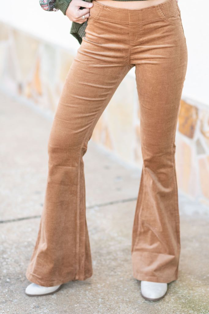 Blast From The Past Flare Pants, Camel