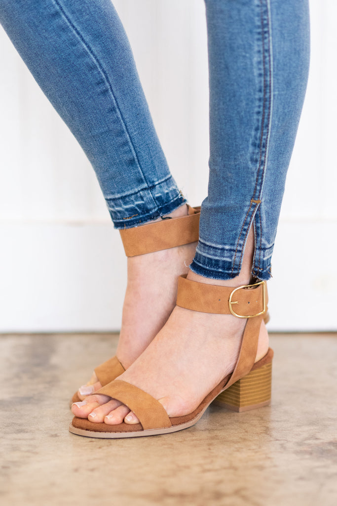 Created Fab Heeled Sandals, Camel