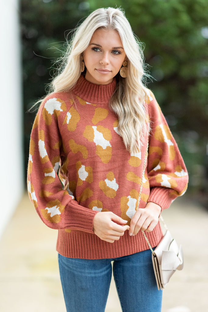 Bold Moves Sweater, Rust