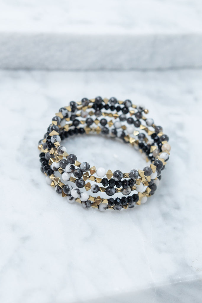 Drama In The Details Bracelet, Black-White