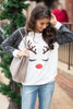 Resting Reindeer Face Top, White
