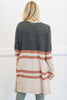 cardigan, casual, top, fall, winter, layers, outerwear, stripes, striped, colorblock, gray, long sleeve, chunky, trendy, shopping, everyday, neutral