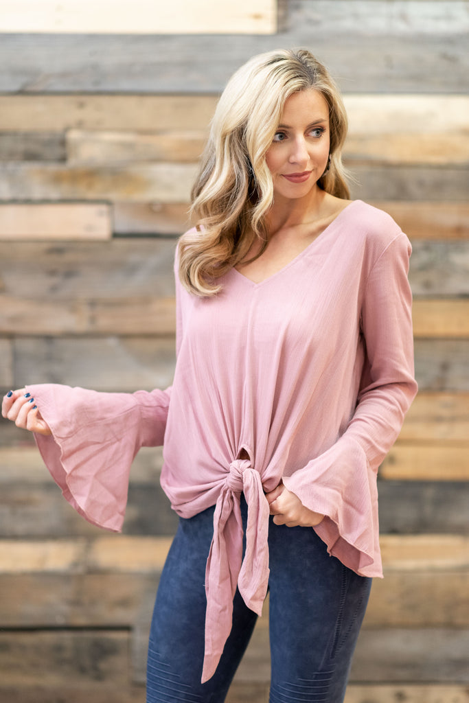 Talk About Love Top, Mauve