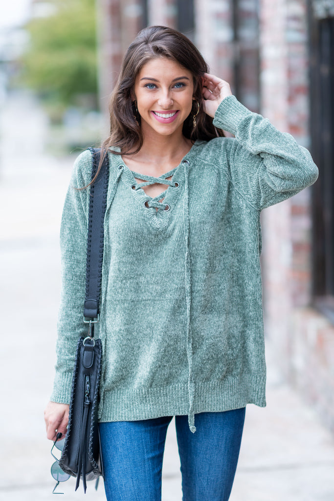 Always On My Mind Sweater, Olive