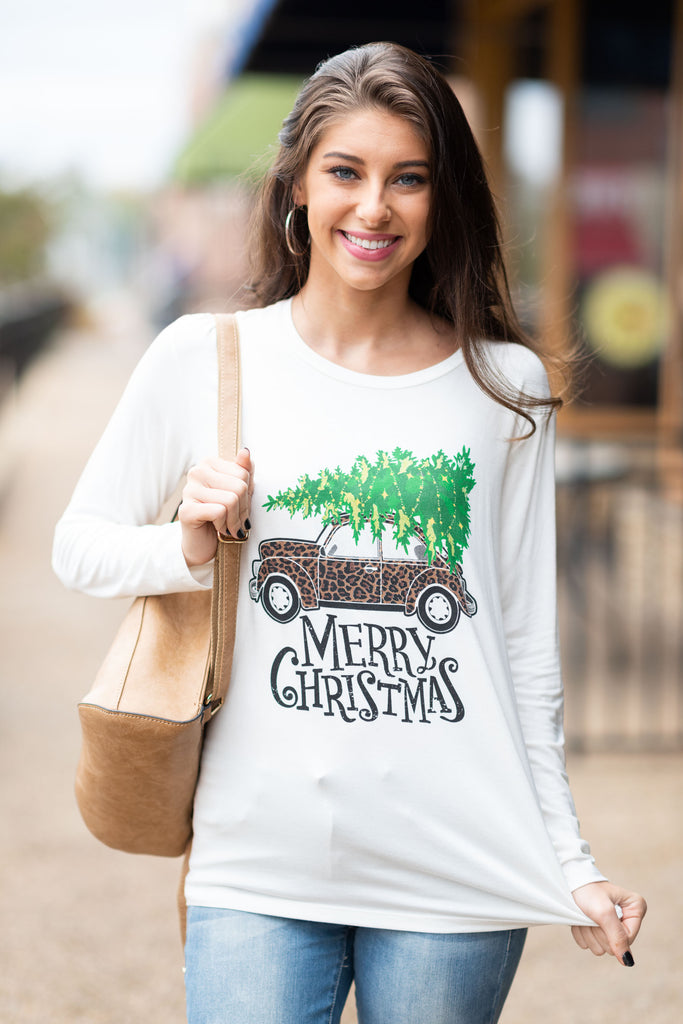 It's A Wild Christmas Top, Ivory