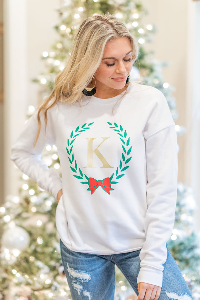 Christmas Spirit Sweatshirt, White