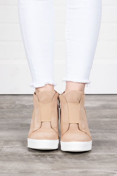 1d1428a47753 Known By All Wedge Sneakers, Oatmeal
