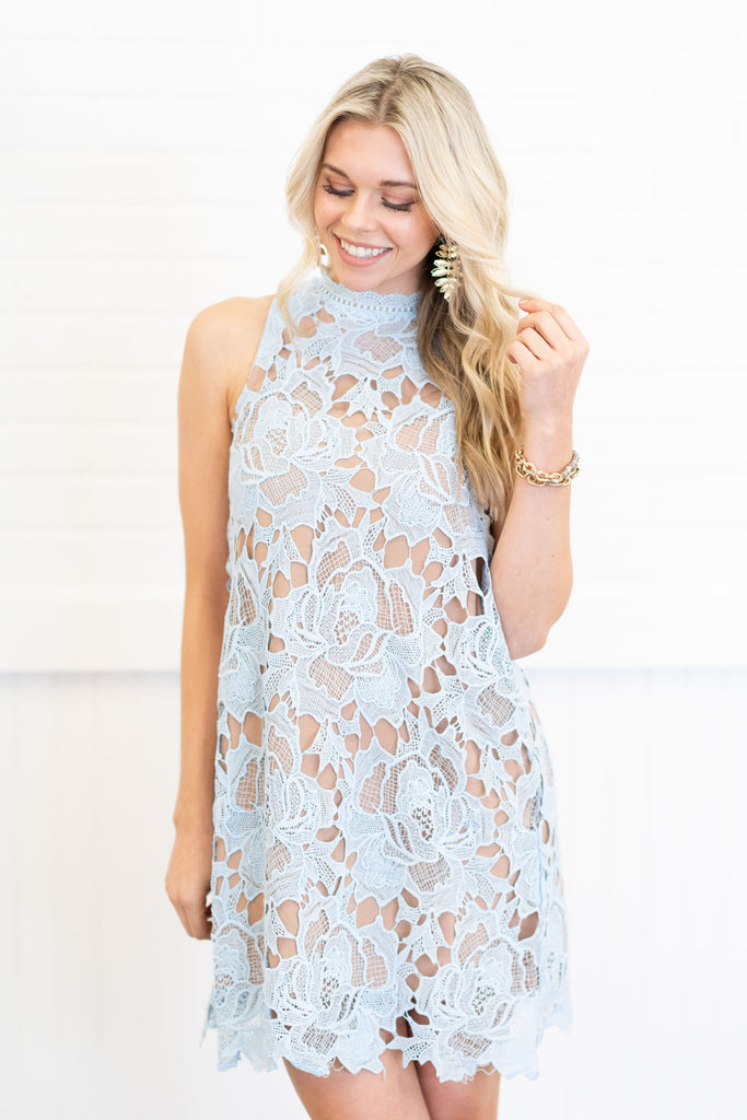 All The Compliments Dress, Dusty Blue