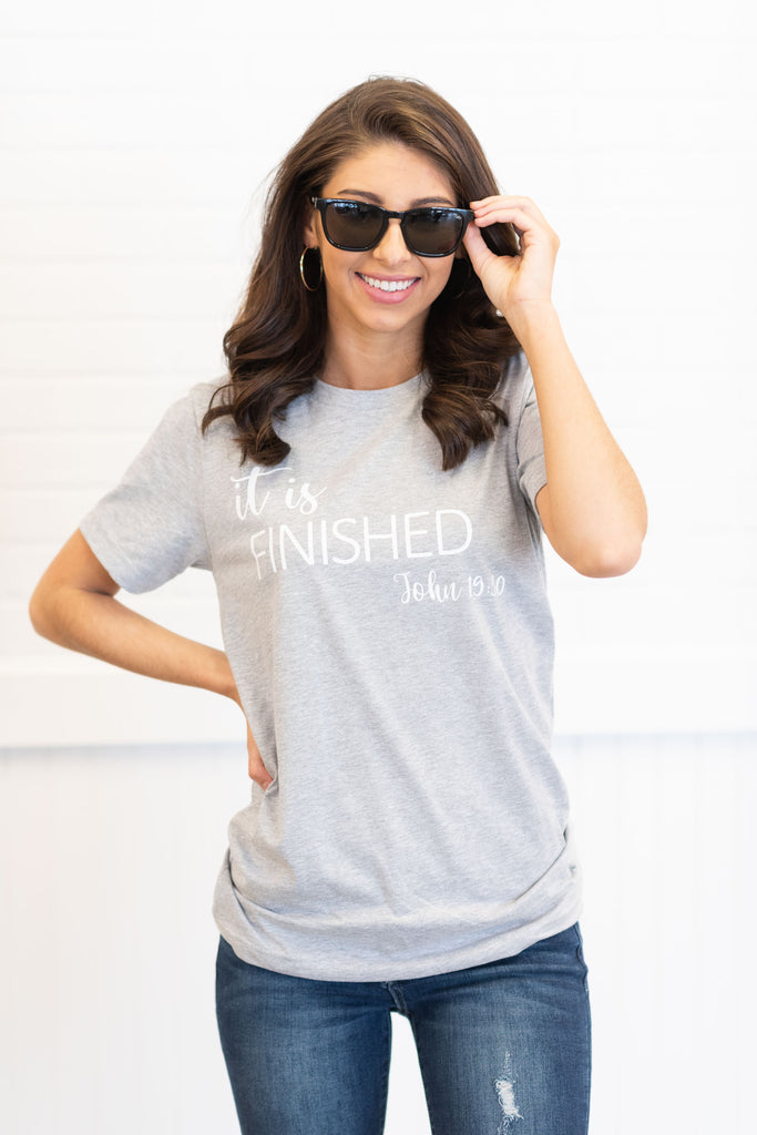 It Is Finished Tee, Heather Gray