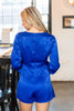 All Of Your Attention Romper, Royal Blue