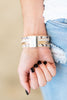 Get What You Give Bracelet, White