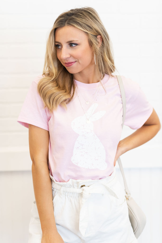 Some Bunny To Love Tee, Light Pink