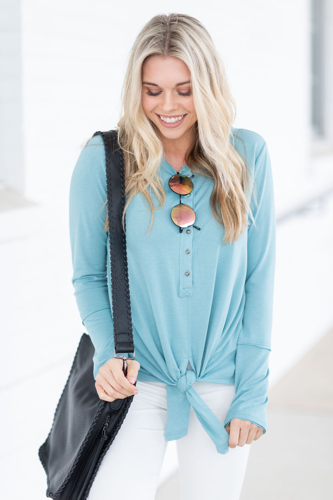 Relatable Love Top, Seafoam