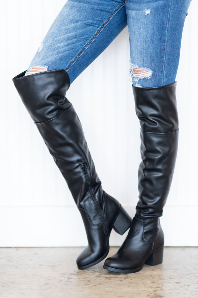 Chic Confirmation Boots, Black