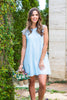 Somewhere Only We Know Oxford Blue Shift Dress