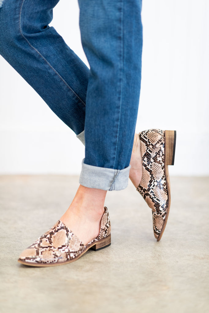 Start Your Day Booties, Snakeskin