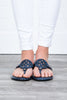 The Sky Is The Limit Navy Blue Sandals
