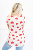 All The Love Top, Ivory-Red