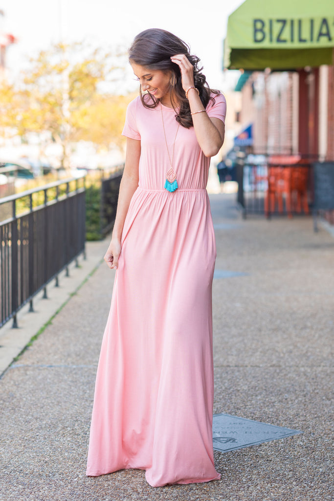 Travel Time Maxi Dress, Blush