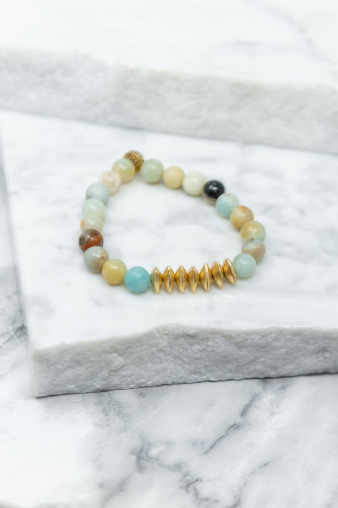 The Future is Here Light Jade Green Beaded Bracelet