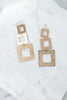 Hip To Be Square Earrings, Gold