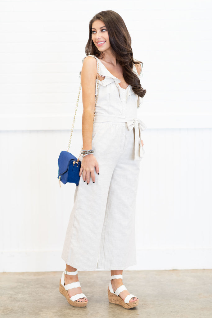 The Best Part Of You Jumpsuit, Light Taupe