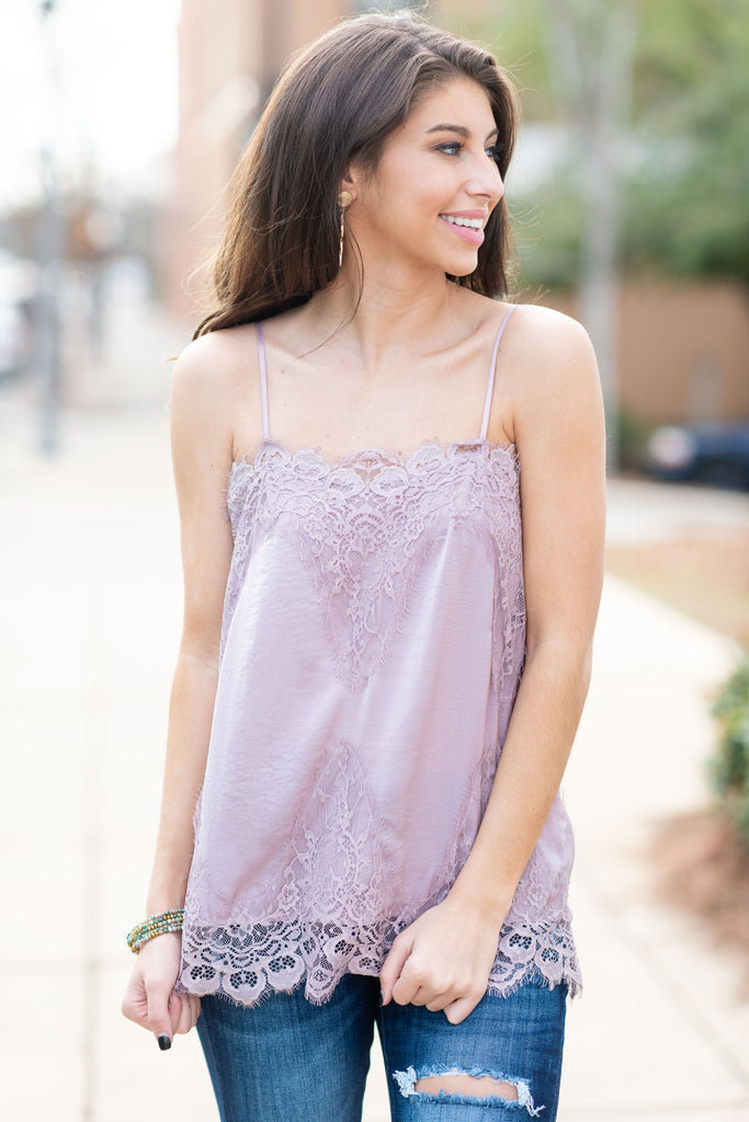 Devoted To You Tank, Mauve