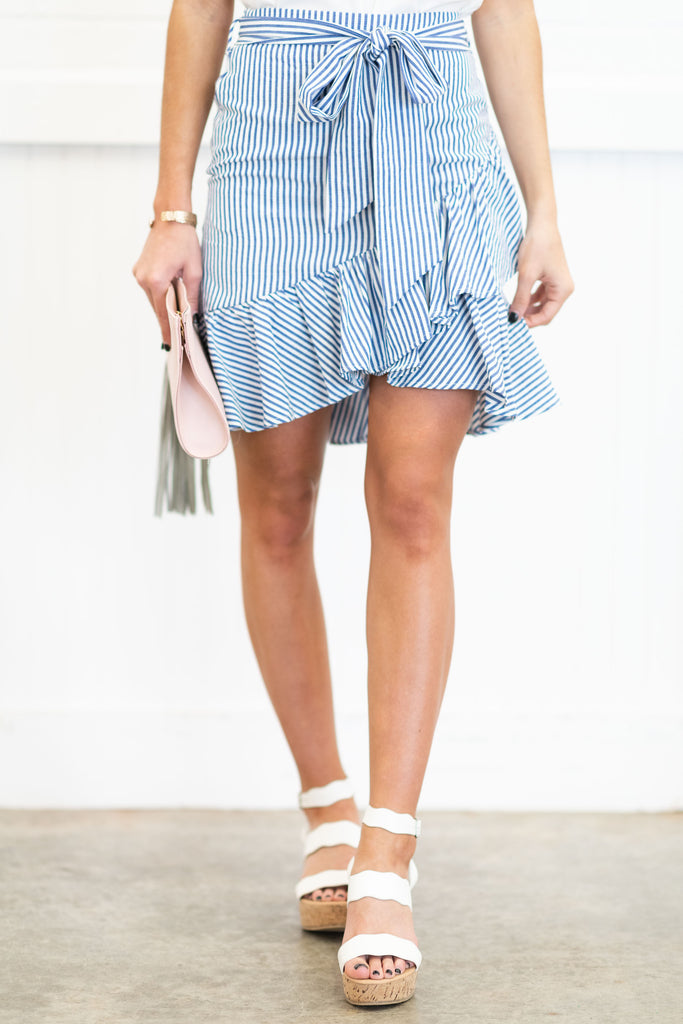 Preppy Passions Skirt, Blue