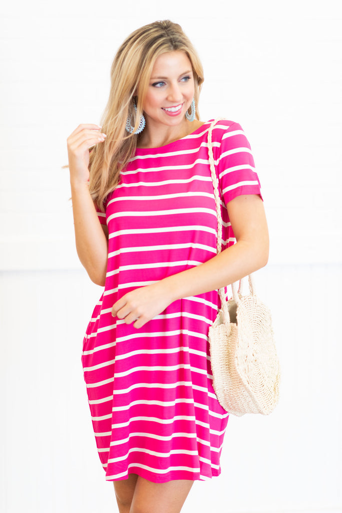 Such A Sweet Story Dress, Fuchsia